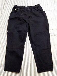 Blassport womens 18 short blue denim jeans cotton elastic waist 36 L 26.5