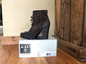 Frye Black Suede Leather  Parker Moc Short Ankle Booties / Boots Size 8 1/2