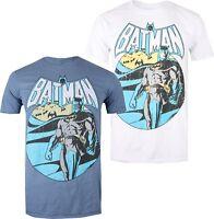 DC Comics - Batman - Men's T-Shirt - Indigo or White - S-XXL - Distressed Look