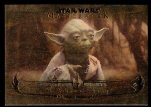 """""""Do or do not."""" WY-1 Topps 2020 Star Wars Masterwork Wisdom of Yoda Wood 10/10"""