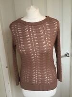 Ladies Atmosphere Primark Brown Jumper 3/4 Length Sleeve Casual Size 12 B30