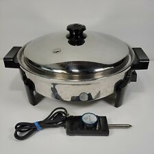 Saladmaster 7256 Stainless Steel Automatic Electric Skillet w/ Lid- See Photos