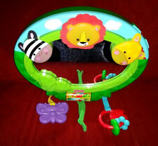 Fisher Price Rainforest Music & Lights Mirror Crib Toy 2008 2 Play Modes Green