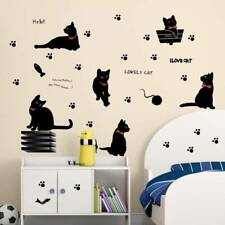 Lovely Black Cat Wall Sticker Removable DIY^ Decals for Living Room Kids Bedroom