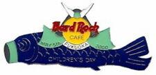 Hard Rock Cafe FUKUOKA 2000 CHILDREN'S DAY PIN Fish Kite w/ Samurai Helmet #2545
