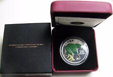 2010 Proof $20 Crystal Raindrop #3-Maple Leaf Canada .9999 silver twenty