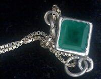 Gargantilla de esmeralda en plata 925