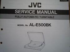 JVC AL-E500BK giradischi Servizio Manuale diagramma di cablaggio Parti Riparazione Manutenzione