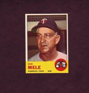 1963 Topps Baseball Card #531 Sam Mele Twins High Number # NM Or Better