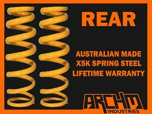 "MITSUBISHI MIRAGE CE 1996-03 HATCHBACK REAR ""STD""STANDARD HEIGHT COIL SPRINGS"