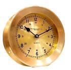 "CHELSEA CLOCK Co. BOSTON Vintage 4lb Brass Maritime Ship Boat Clock 7×3""  WORKS!"