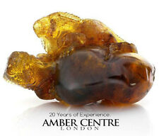 Mexican Amber Lizards Carving Super Quality Collectible Item RRP£9000!! - OT5228