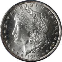 1891-CC Morgan Silver Dollar PCGS MS63 Blast White Great Eye Appeal Nice Strike