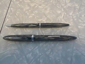 Vintage Sheaffer White Dot Snorkel Fountain Pen Set New Old Stock?