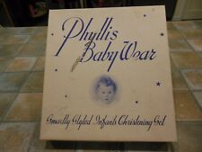 VINTAGE CHRISTIAN PHYLLIS BABY WEAR BABY BOY 3 PIECE CHRISTENING SET Tuxedo