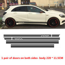 2PC Auto Car Styling High Quality Vinyl  Roof Hood Decals Stickers Graphics Film