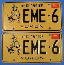 1988 YUKON CAR LICENSE PLATE PAIR  #EME6  PROSPECTOR                  SL0983