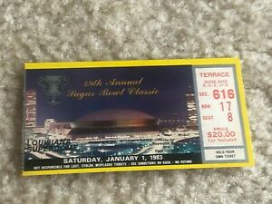 1983 Sugar Bowl Ticket Georgia Bulldogs vs Penn State National Champs Excellent