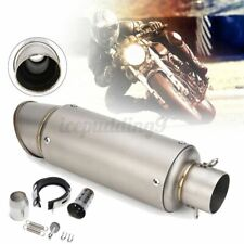 38-51mm Silencer Stainless Steel Universal Motorcycle Exhaust Muffler Pipe AU