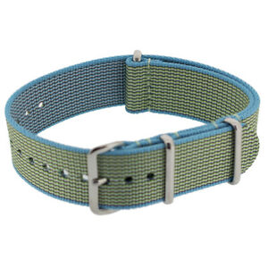 Premium NATO Watch Strap in APPLE GREEN with Polished Steel Buckle & Keepers