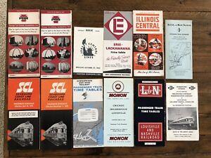 Railroad timetables (12) 50's 60's 70's PRR Seaboard C&O L&N train