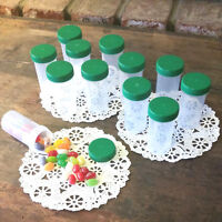 20 Pill Bottles Party JARS Irish Team GREEN LIDS Container 3814 DecoJars USA NEW