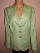 ESCADA 14 44 Pretty Green Designer Womens Wool Silk Linen Gorgeous Jacket Blazer