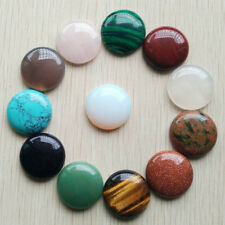 Fashion natural stone mixed round shape CABOCHON Beads 12pcs/lot wholesale 25mm