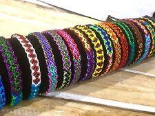 Woven Silk Friendship Bracelets Wholesale lot of 24 Flat Design Party Favours