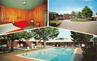 Griffin Georgia GA 1960s Postcard Callaway's Motel Multiview Room Pool
