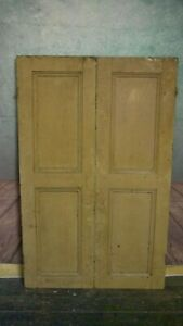 C54 (34 3/4 x 55) Pair of Old Victorian Cupboard Doors from U.K finest