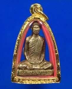 THAI AMULET PHRA Statue OLD LP DERM WAT NONGPHO B.E.2482 AMULETS case
