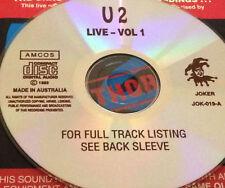 U2 Live Vol. 1 Australian CD Super Rare Bono Surrender Pride In The Name Of Love