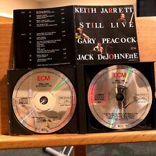 Keith Jarrett Trio Still Live 2 CD Gary Peacock Jack DeJohnette ECM 1360 Germany