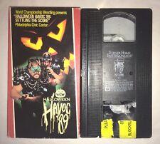 WCW Halloween Havoc '89 (VHS, 1989) NWA WWE WWF THE ROAD WARRIORS LOD RARE