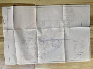 Kennett Missouri 1970 Original Vintage Urban Vicinity Map (12E)