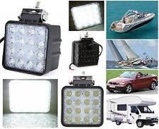 FARO MARINO ALTA POTENZA 16 LED EPISTAR WHITE 48W 12V-24V IP67 BARCA AUTO CAMPER