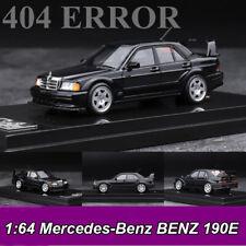 404 ERROR 1:64 Mercedes-Benz BENZ 190E Black Model Car Collection New In Box