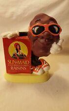 """Vintage 1987 California Raisins Sun-Maid Piggy Bank w/ Stopper ~ 7"""" Tall"""
