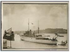 Indochina, Navire Bridge Water  Vintage silver print  Tirage argentique  13x