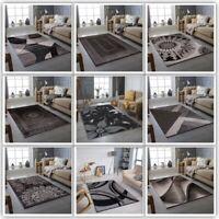 MODERN DESIGN AREA RUGS  GREY SOFT LARGE LIVING ROOM FLOOR BEDROOM CARPET RUGS