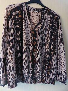 Animal print blouse, sz 20/22