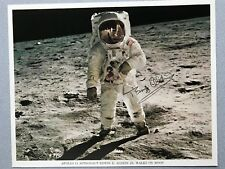 Astronaut Buzz Aldrin Signed Official NASA Apollo 11 EVA Walk on Moon Photograph