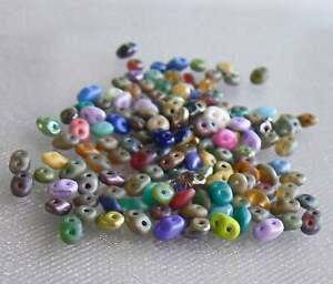 SuperDuo Two Hole Czech Glass Beads 10-Grams Ur PICK