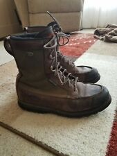Vintage Red Wing Irish Setter green canvas brown leather hunting boots 11 12