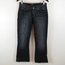 Miss Sixty Luxury Flare Leg Embossed Jeans Womens Size 29 Made in Italy