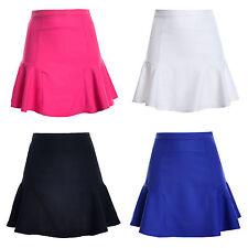 AU WOMEN PLAIN OFFICE SKIRT Slim Thin High Waist Pleated Tennis SHORT Mini Dress