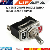 1 x 12V Heavy Duty Toggle Flick Switch ON/OFF Car Dash Light Metal SPST 12 Volt