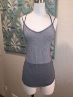 Lululemon Women's Strappy Tank Top Gray Striped Size 4