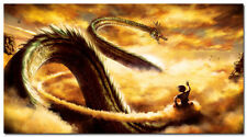 Dragon Ball Z Anime Art Silk Wall Poster 32x58 inch Goku Ride Shenron